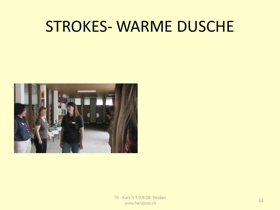 STROKES- WARME DUSCHE 62 TA - Kurs h 3 9.9.08 Strokes www.hansjoss.ch