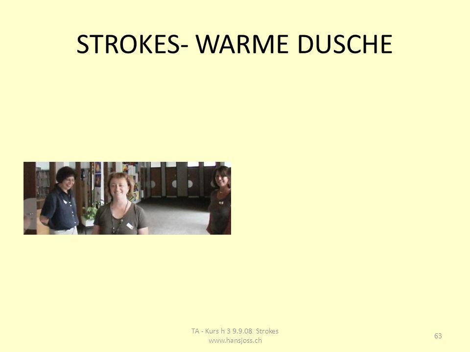 STROKES- WARME DUSCHE 63 TA - Kurs h 3 9.9.08 Strokes www.hansjoss.ch
