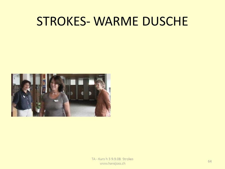STROKES- WARME DUSCHE 64 TA - Kurs h 3 9.9.08 Strokes www.hansjoss.ch