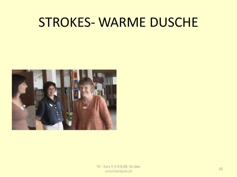 STROKES- WARME DUSCHE 65 TA - Kurs h 3 9.9.08 Strokes www.hansjoss.ch