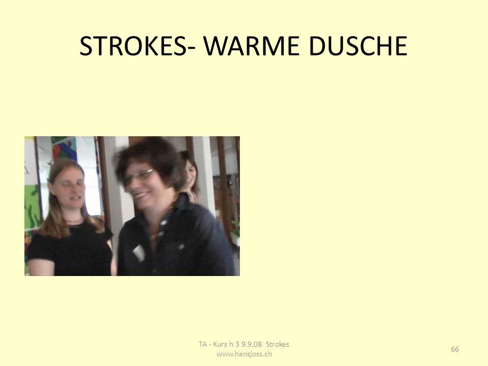 STROKES- WARME DUSCHE 66 TA - Kurs h 3 9.9.08 Strokes www.hansjoss.ch
