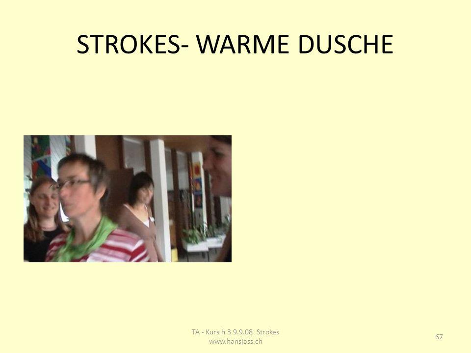 STROKES- WARME DUSCHE 67 TA - Kurs h 3 9.9.08 Strokes www.hansjoss.ch