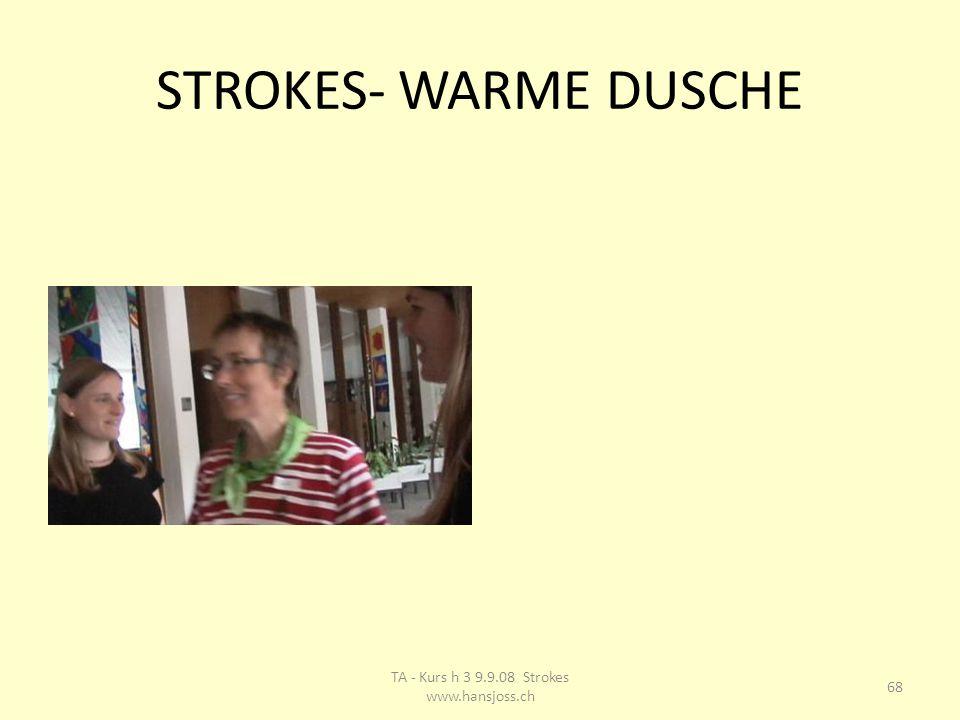 STROKES- WARME DUSCHE 68 TA - Kurs h 3 9.9.08 Strokes www.hansjoss.ch