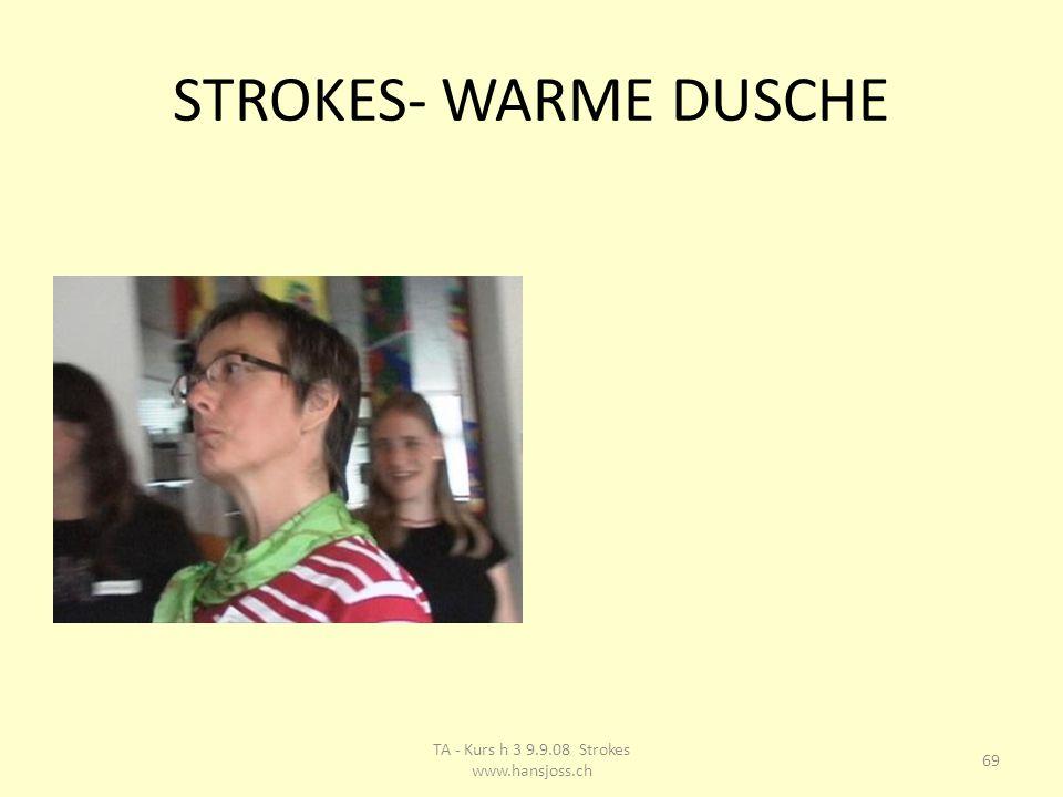 STROKES- WARME DUSCHE 69 TA - Kurs h 3 9.9.08 Strokes www.hansjoss.ch