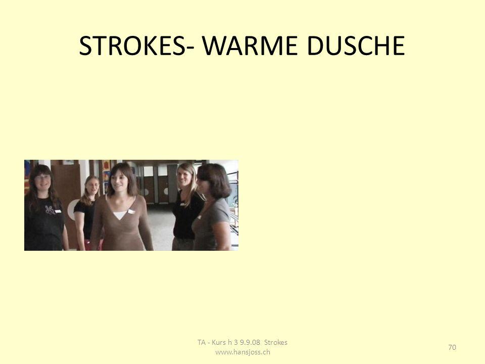 STROKES- WARME DUSCHE 70 TA - Kurs h 3 9.9.08 Strokes www.hansjoss.ch