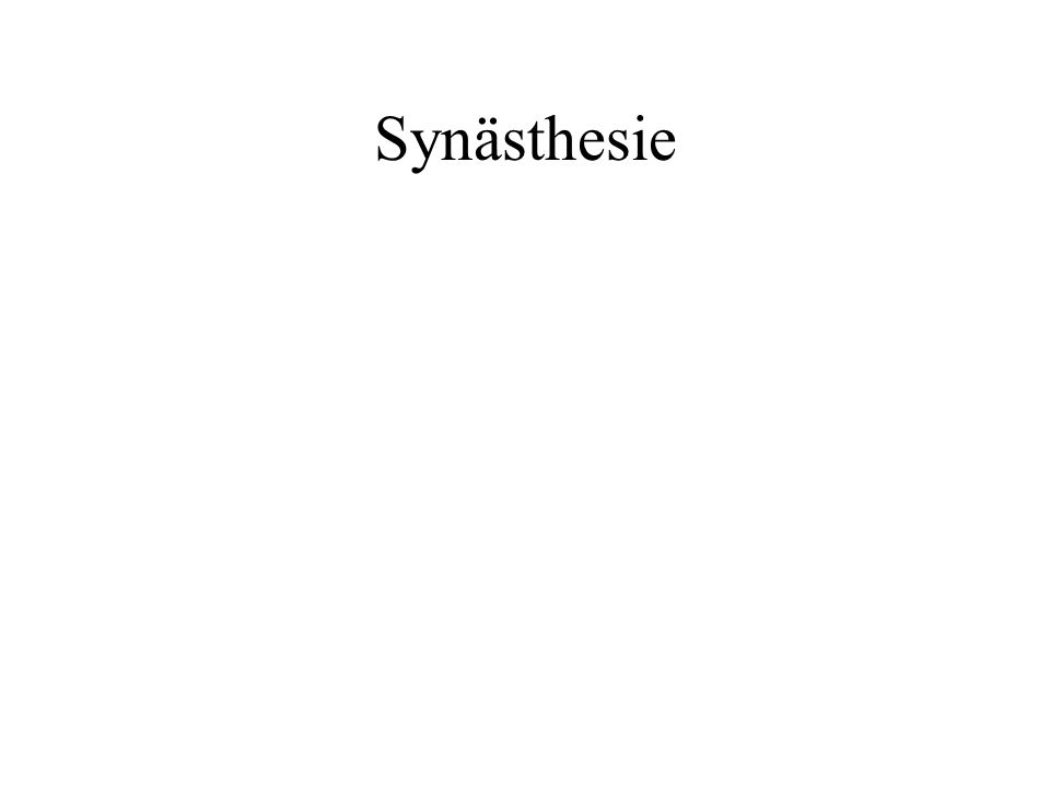 Synästhesie