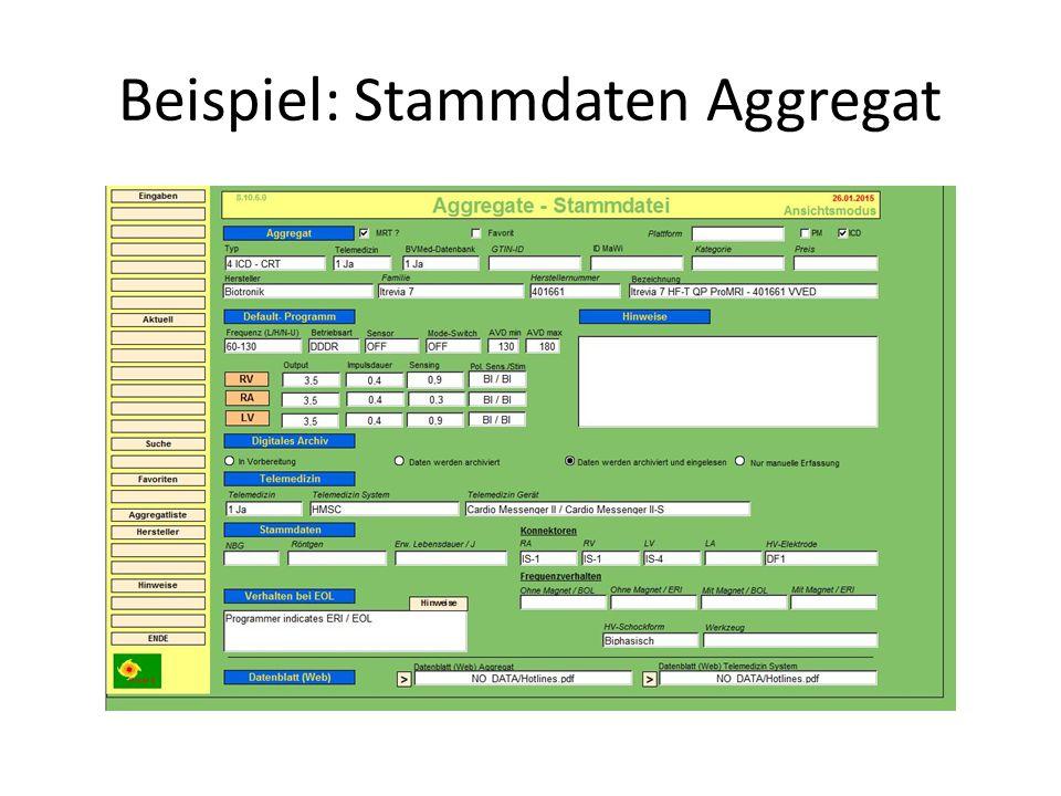 Beispiel: Stammdaten Aggregat