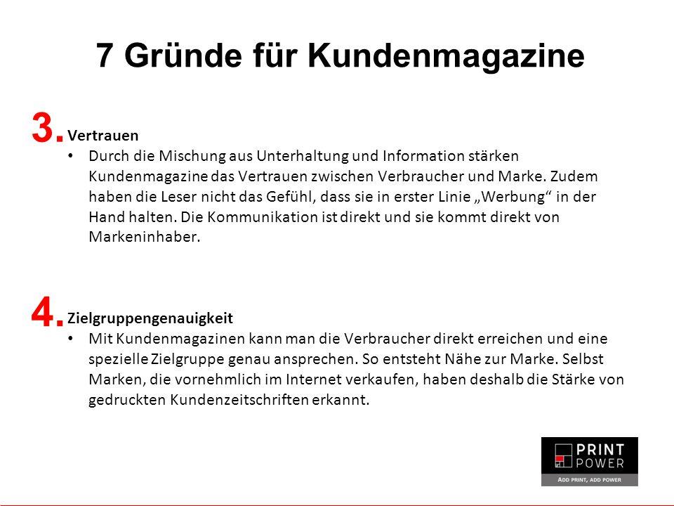 7 Gründe für Kundenmagazine 3.