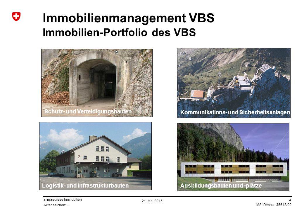 4 Aktenzeichen:.. MS ID/Vers. 35618/00 armasuisse Immobilien Immobilienmanagement VBS Immobilien-Portfolio des VBS Ausbildungsbauten und -plätzeLogist