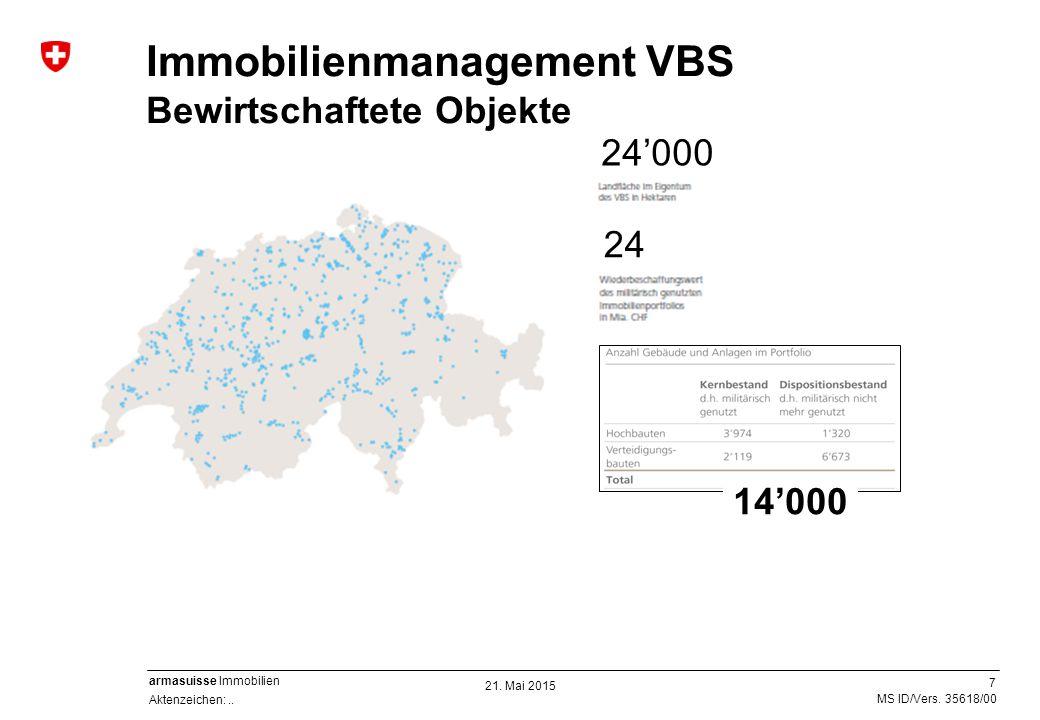 7 Aktenzeichen:.. MS ID/Vers. 35618/00 armasuisse Immobilien Immobilienmanagement VBS Bewirtschaftete Objekte Ausbildungsbauten und -plätzeLogistik- u