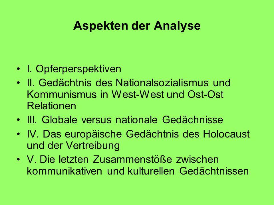 Aspekten der Analyse I. Opferperspektiven II.