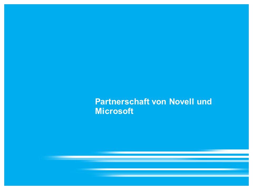 Partnerschaft von Novell und Microsoft