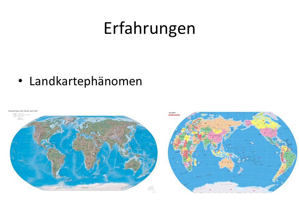 Erfahrungen Landkartephänomen