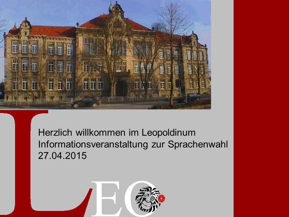 Sprac Informationsveranstalt ung: 27.04.2015 1 Herzlich willkommen im Leopoldinum Informationsveranstaltung zur Sprachenwahl 27.04.2015