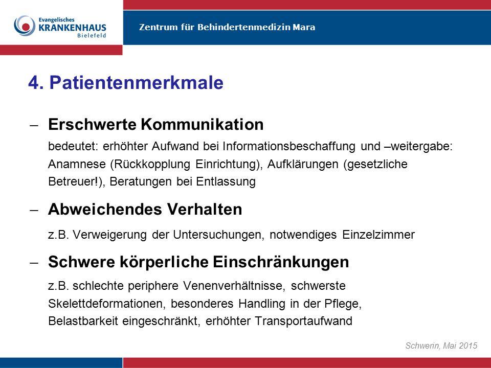Zentrum für Behindertenmedizin Mara Schwerin, Mai 2015  Erschwerte Kommunikation bedeutet: erhöhter Aufwand bei Informationsbeschaffung und –weiterga