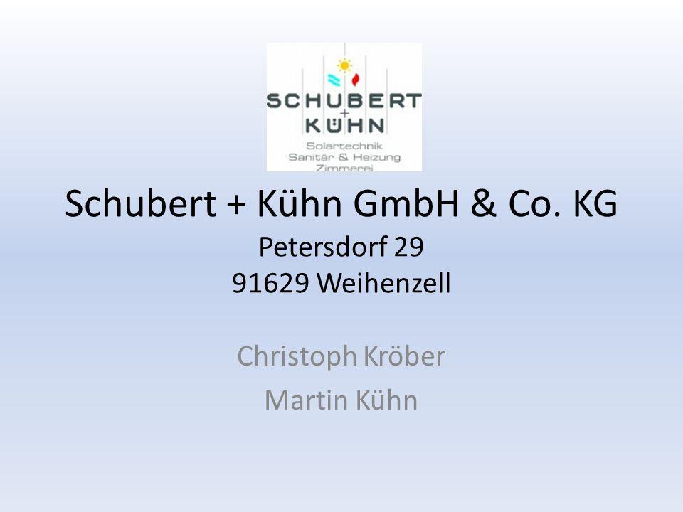 Schubert + Kühn GmbH & Co. KG Petersdorf 29 91629 Weihenzell Christoph Kröber Martin Kühn