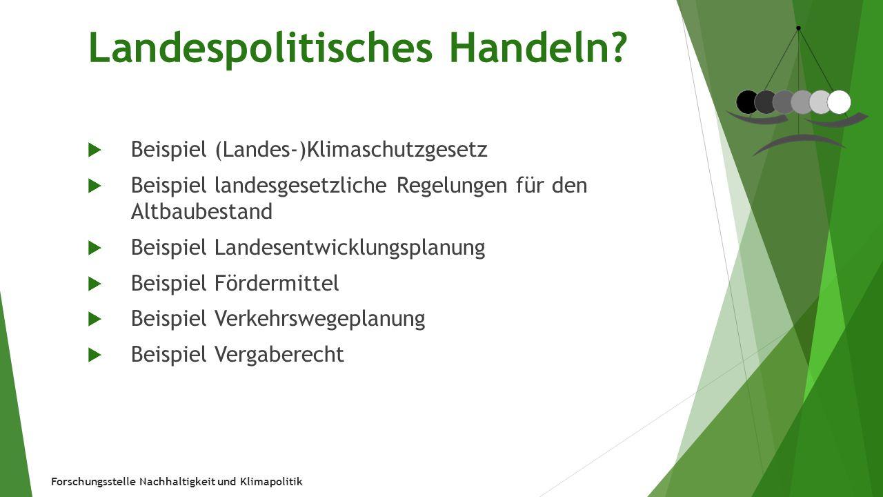 Forschungsstelle Nachhaltigkeit und Klimapolitik Steuerung = kommunal.