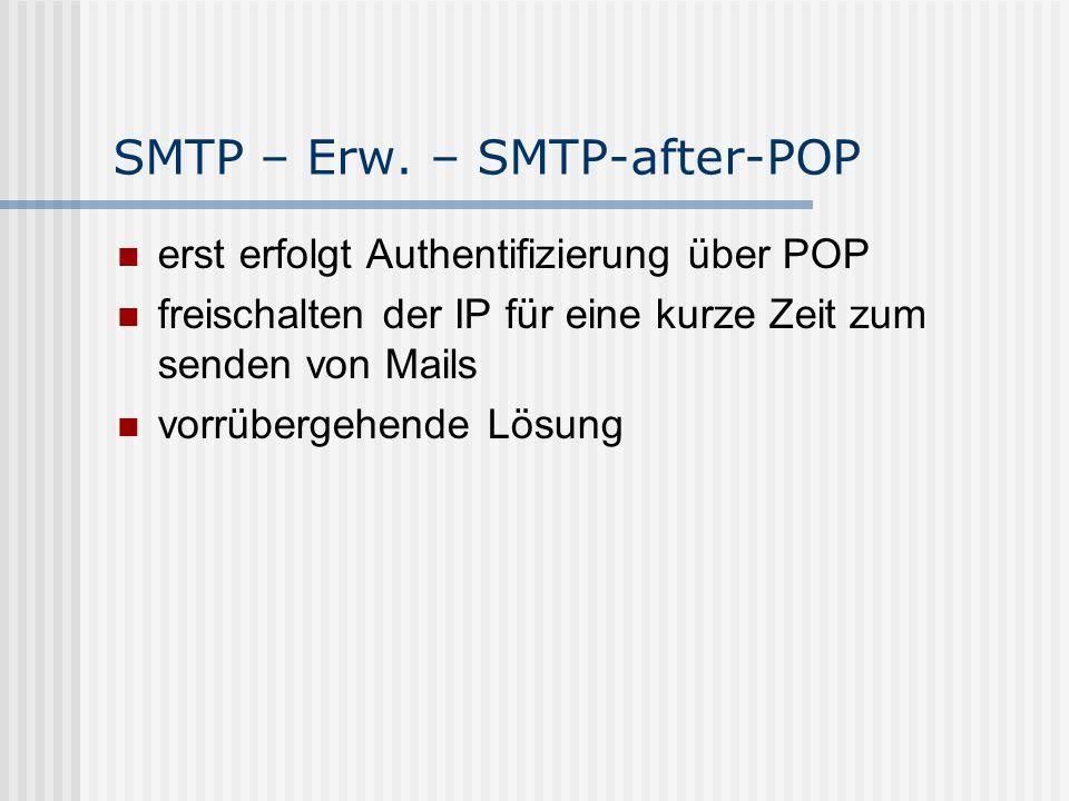 SMTP – Erw.