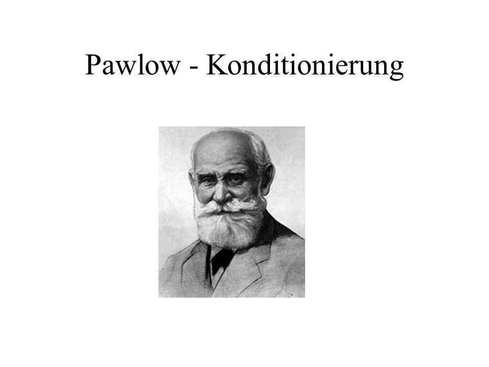 Pawlow - Konditionierung