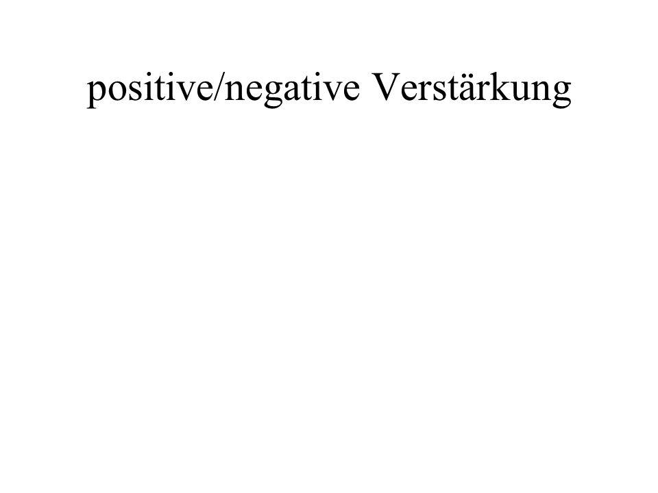 positive/negative Verstärkung