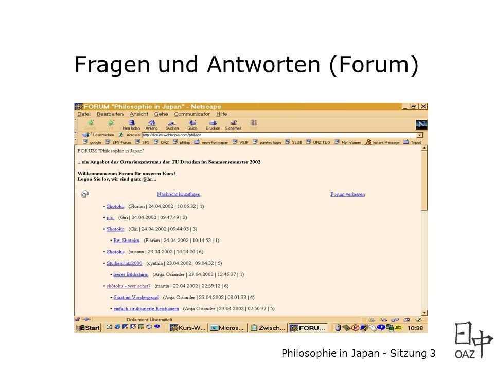 Fragen und Antworten (Forum)