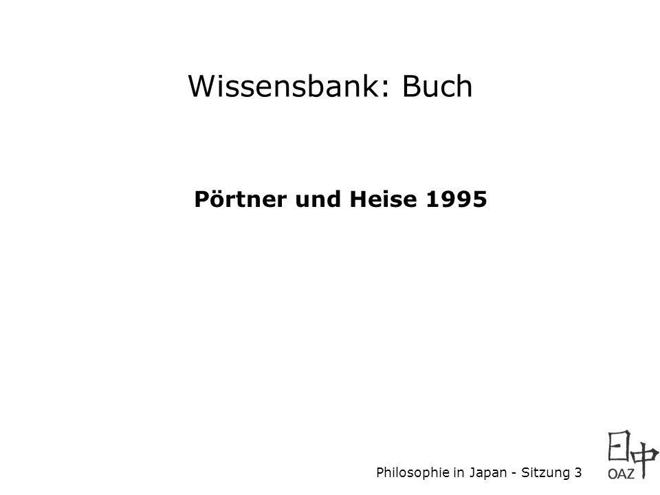 Wissensbank: Buch Pörtner und Heise 1995