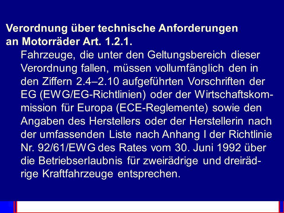 EU Recht EU Recht EU Recht EU Recht EU Recht 45 % des inner- staatlichen Rechts E.Chemikaliengesetz 2 Er (Bundesrat) kann im Rahmen dieses Gesetzes be stimmte international harmonisierte technische Vorschriften und Normen für anwendbar erklären.