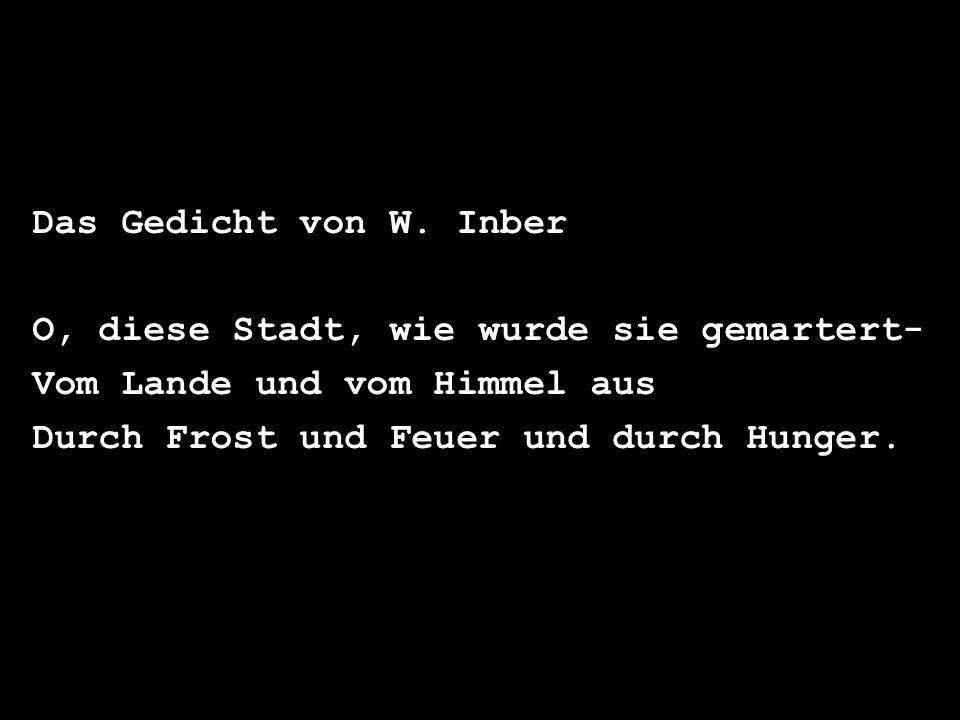 Das Gedicht von W.