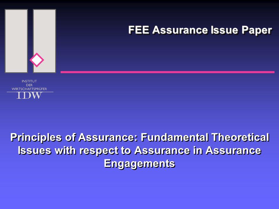 12 Assurance  Wann ist Assurance reasonable.