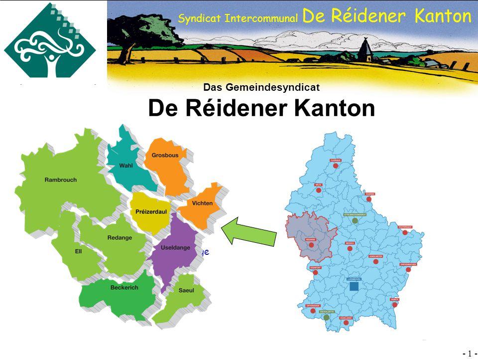 SI DRK - 1 - Syndicat Intercommunal De Réidener Kanton Das Gemeindesyndicat De Réidener Kanton Useldange