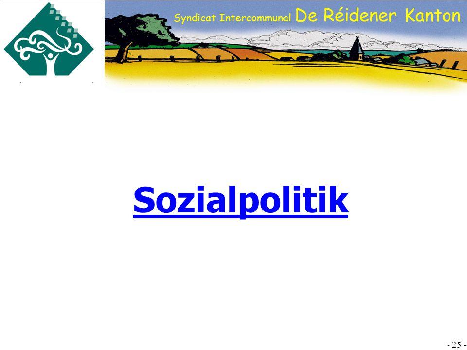 SI DRK - 25 - Syndicat Intercommunal De Réidener Kanton Sozialpolitik