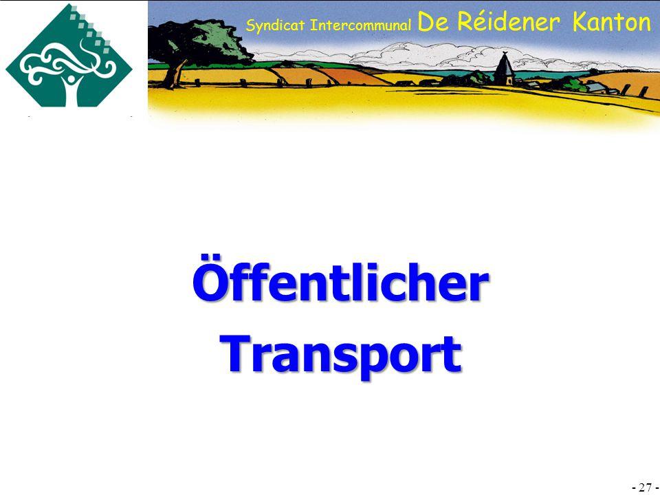 SI DRK - 27 - Syndicat Intercommunal De Réidener Kanton ÖffentlicherTransport