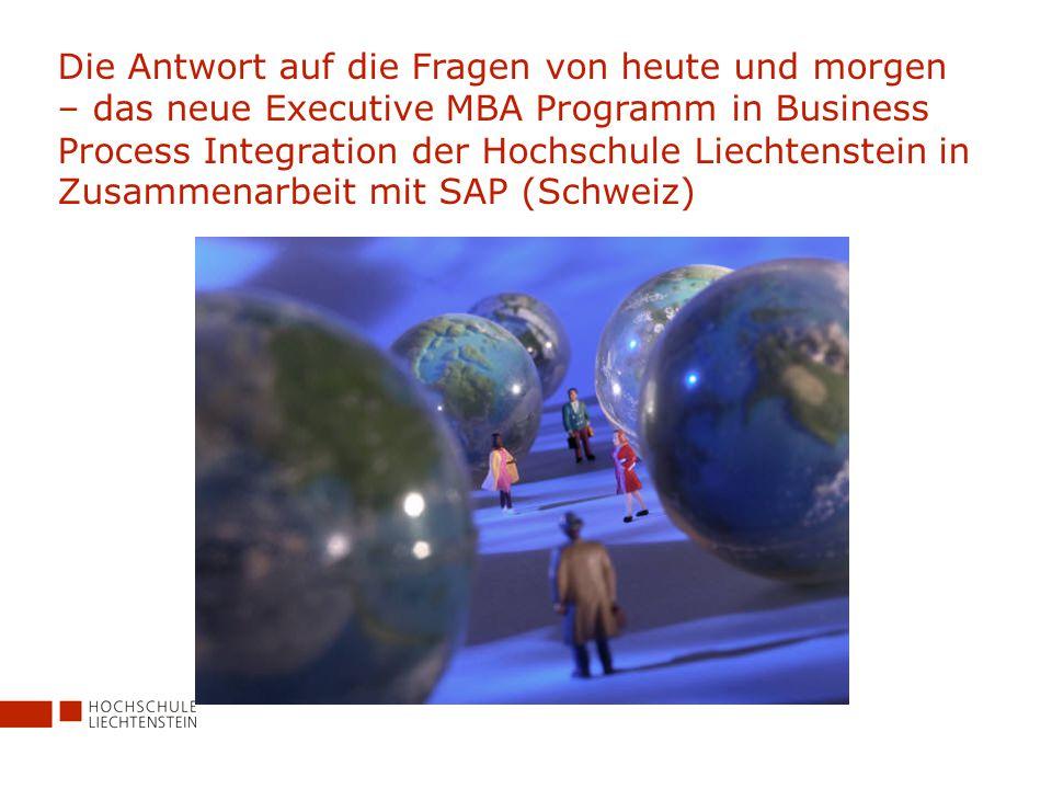Bewerbung Anmeldeformular unter www.hochschule.li/embawww.hochschule.li/emba Anmeldefrist: Freitag, 15.