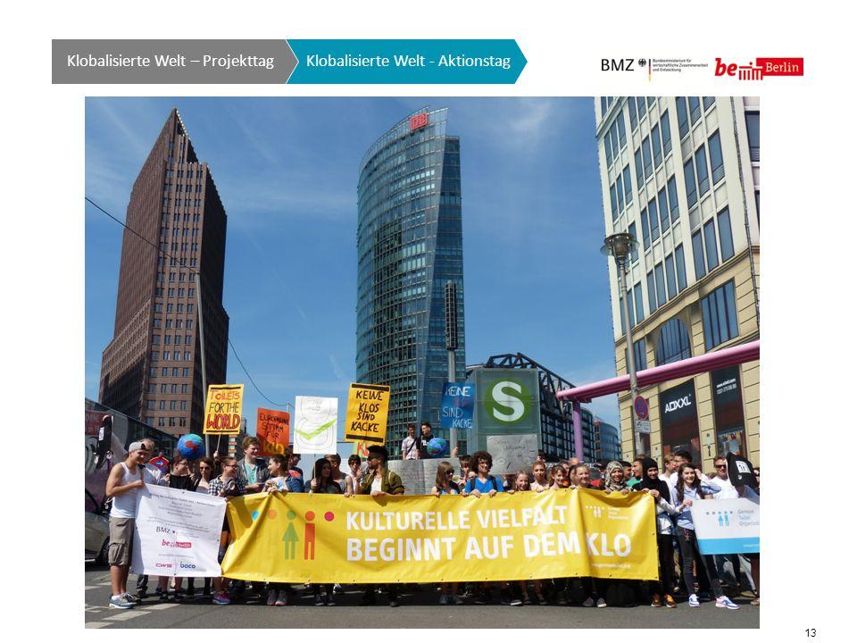 13 Klobalisierte Welt GTO auf einen Blick Klobalisierte Welt - Aktionstag Klobalisierte Welt – Projekttag