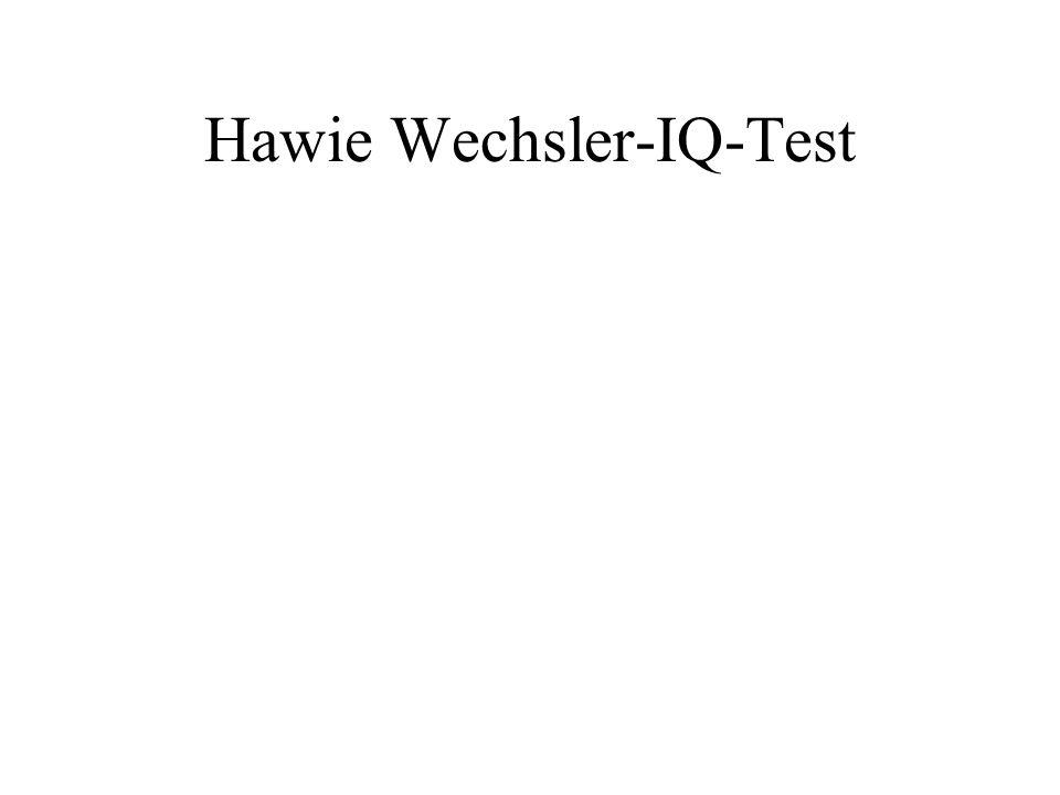 Hawie Wechsler-IQ-Test
