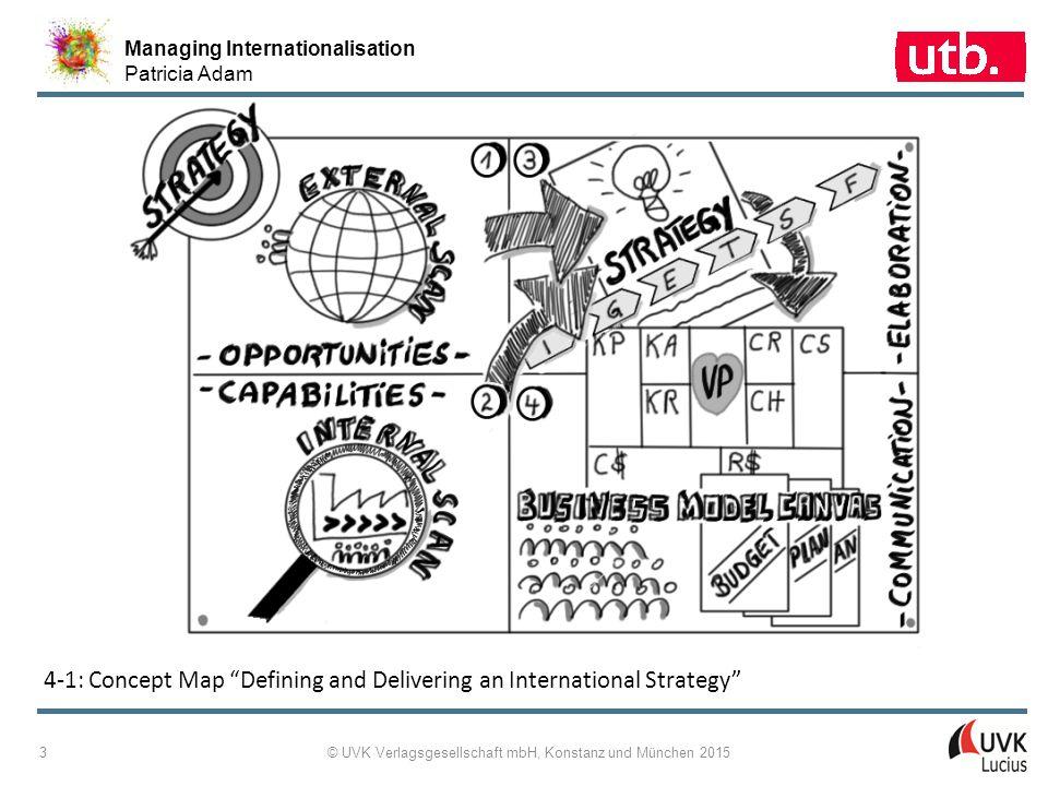 Managing Internationalisation Patricia Adam © UVK Verlagsgesellschaft mbH, Konstanz und München 2015 4 4-2: Strategy Development and Implementation – Overview