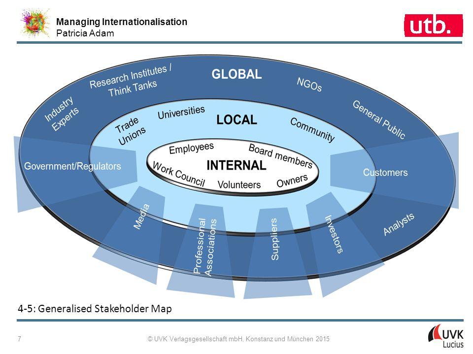 Managing Internationalisation Patricia Adam © UVK Verlagsgesellschaft mbH, Konstanz und München 2015 18 4 ‑ 15: SWOT Analysis