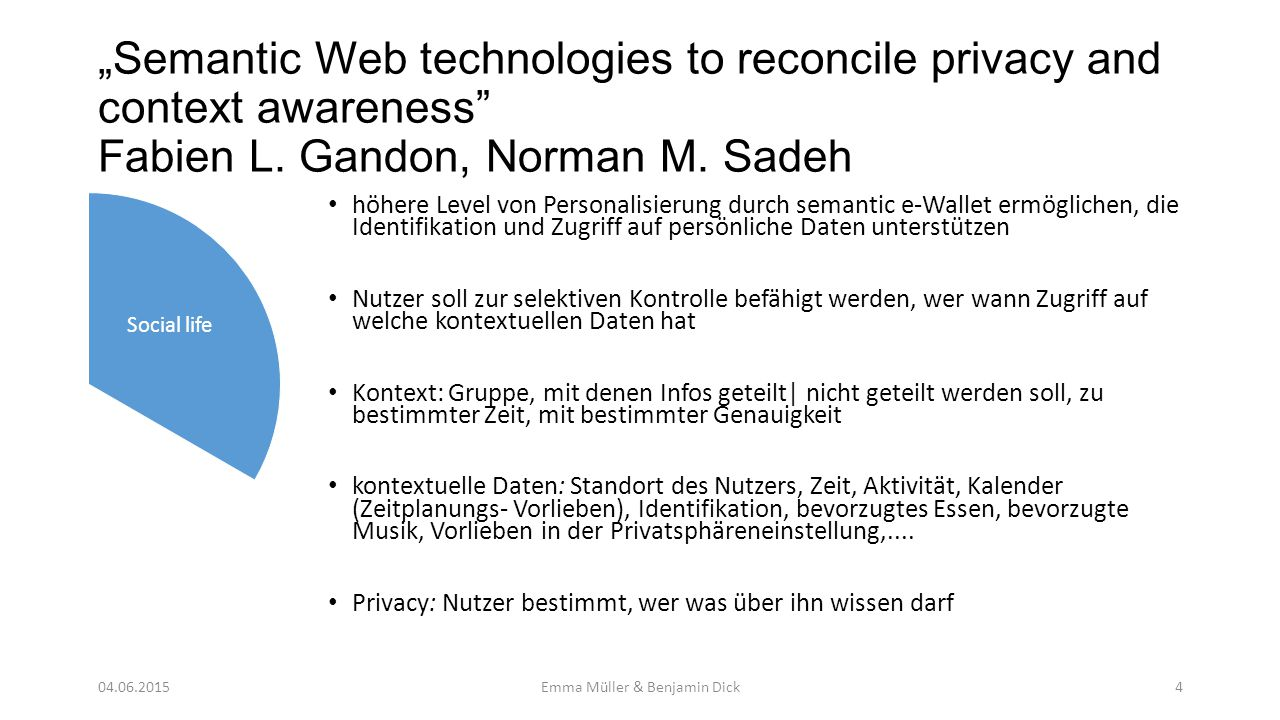 """Adding User-Level SPACe: Security, Privacy, and Context to Intelligent Multimedia Information Architectures Dawn N."