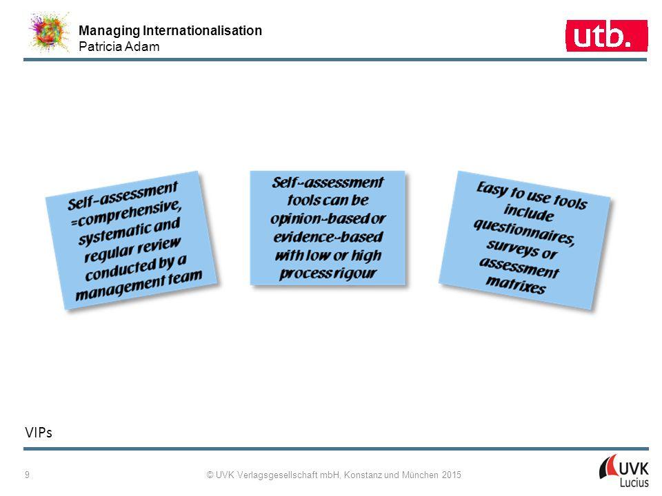 Managing Internationalisation Patricia Adam © UVK Verlagsgesellschaft mbH, Konstanz und München 2015 10 9 ‑ 6: Exemplary Award Simulation Process