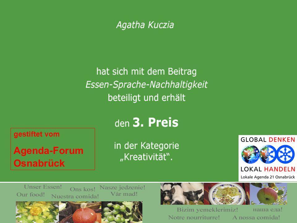 gestiftet vom Agenda-Forum Osnabrück