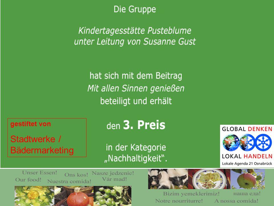 gestiftet von Stadtwerke / Bädermarketing