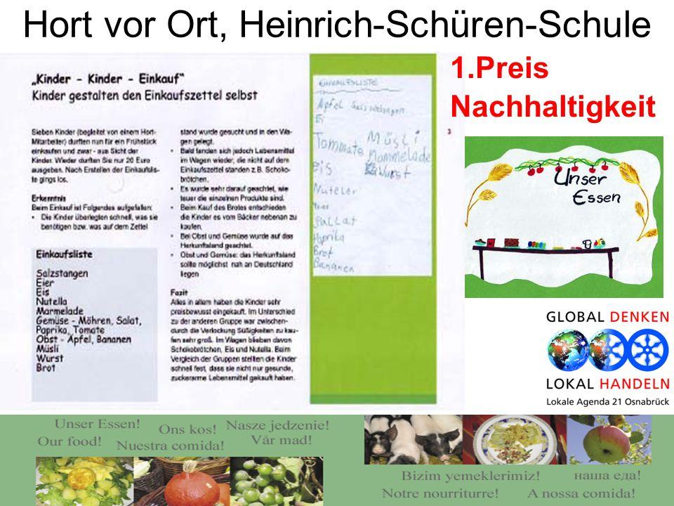 Hort vor Ort, Heinrich-Schüren-Schule 1.Preis Nachhaltigkeit
