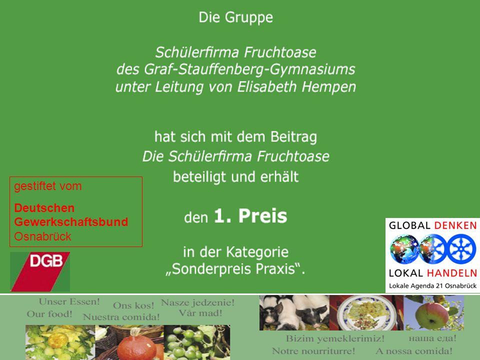 gestiftet vom Deutschen Gewerkschaftsbund Osnabrück