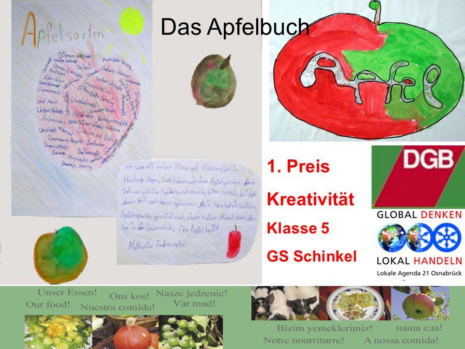 1. Preis Kreativität Klasse 5 GS Schinkel Das Apfelbuch