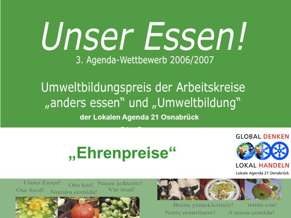 """Ehrenpreise der Lokalen Agenda 21 Osnabrück"