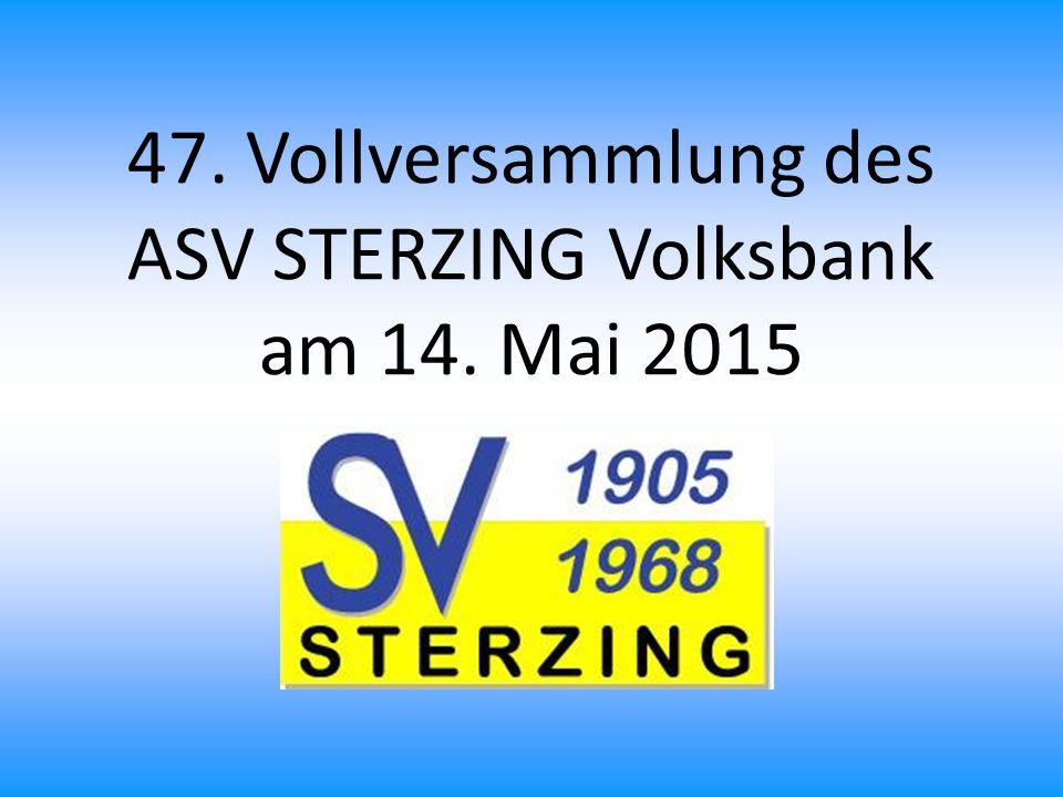 Rechnungsrevision 2014 Am Dienstag, den 28.