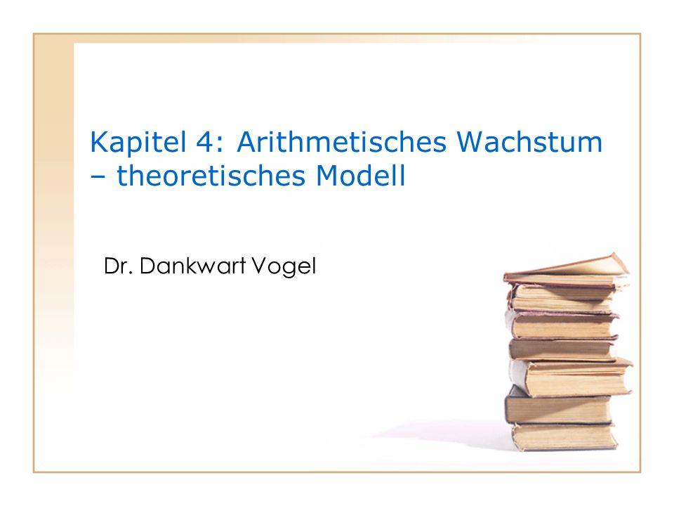 Uni Essen WS 2009/102 Ziele des Kapitels  Eigenschaften arithmetischen Wachstums: numerisch, geometrisch, theoretisch  Arithmetisches Wachstum – gesunder Menschenverstand – Proportionalität