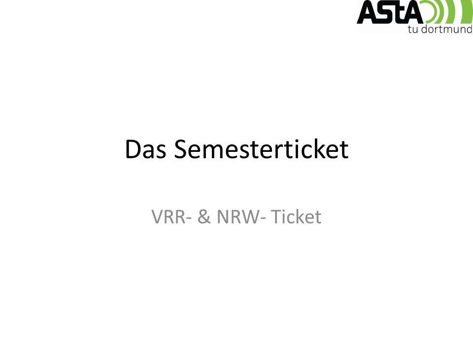 Das Semesterticket VRR- & NRW- Ticket