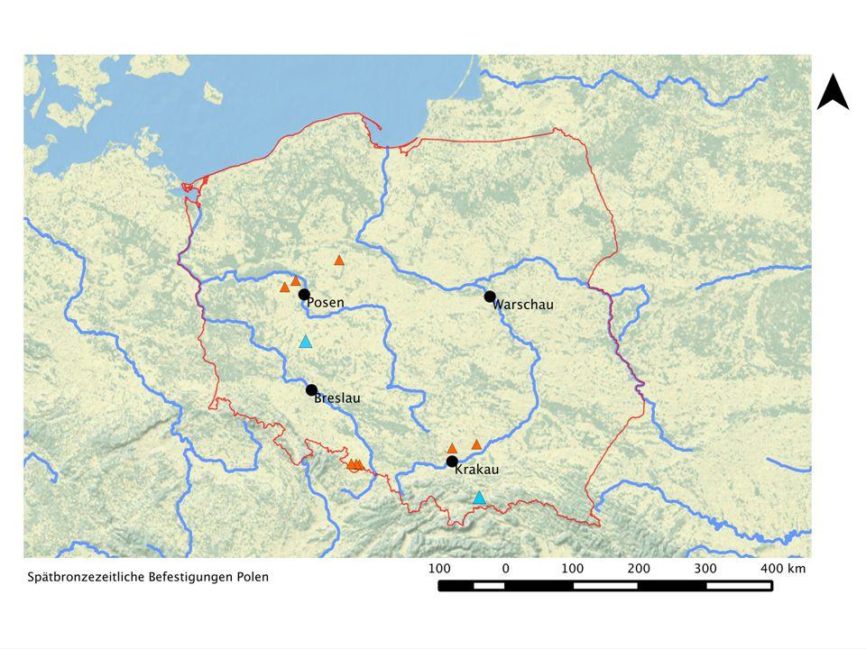 Pudliszki 5 M. Jaeger 2010, Abb. 2 Höhenplan der Siedlung (Isolinien im Abstand von 15 cm)