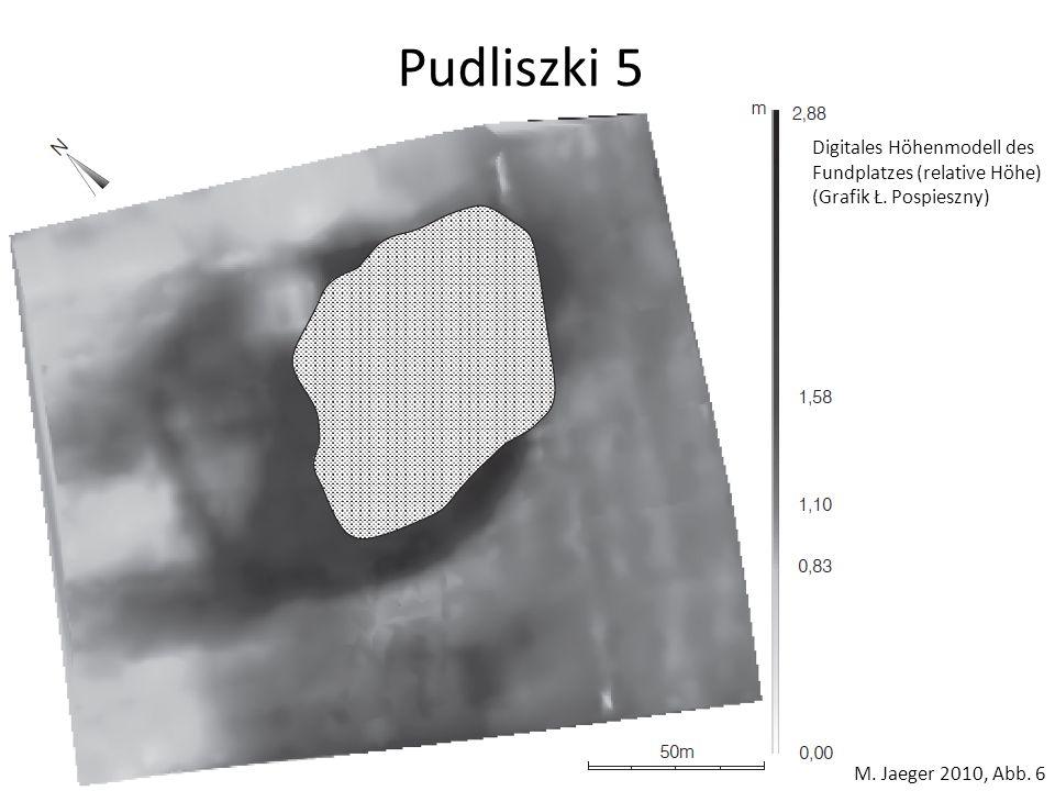 Pudliszki 5 M. Jaeger 2010, Abb. 6 Digitales Höhenmodell des Fundplatzes (relative Höhe) (Grafik Ł. Pospieszny)